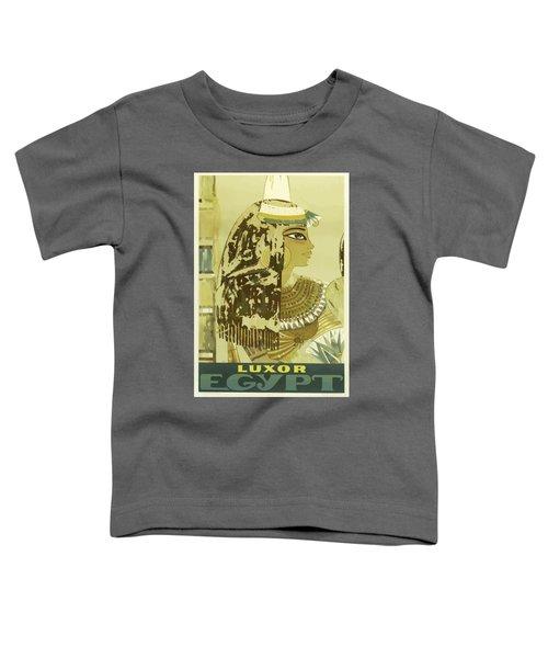 Vintage Travel Poster - Luxor, Egypt Toddler T-Shirt