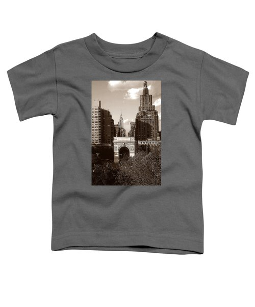 Washington Arch And New York University - Vintage Photo Art Toddler T-Shirt
