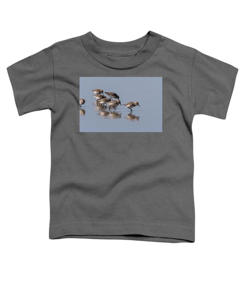Western Sandpipers And Reflection Toddler T-Shirt
