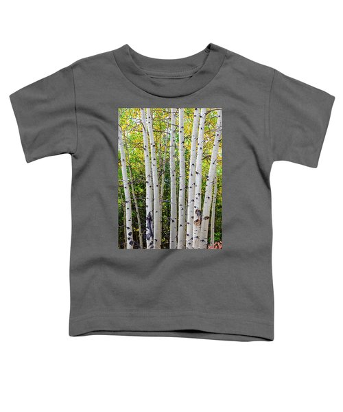 Toddler T-Shirt featuring the photograph White Bark Golden Forest by James BO Insogna