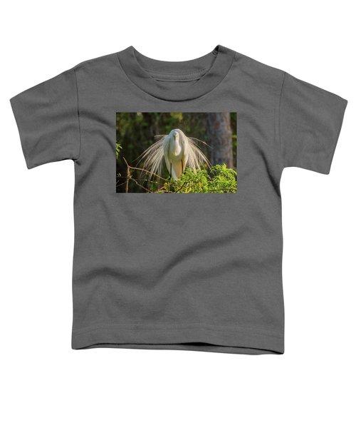 White Egret Toddler T-Shirt