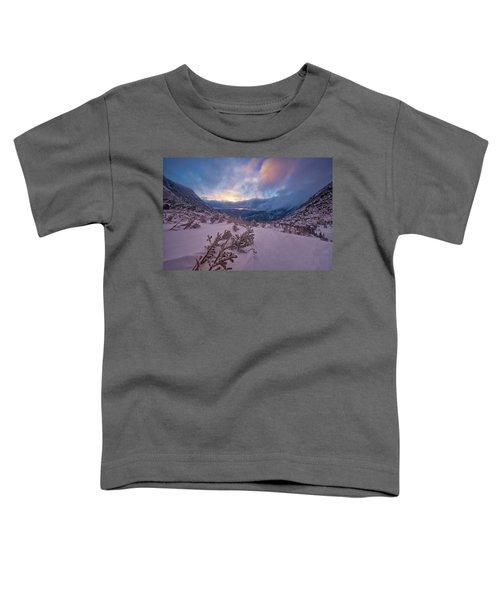 Windswept, Spring Sunrise In Tuckerman Ravine Toddler T-Shirt
