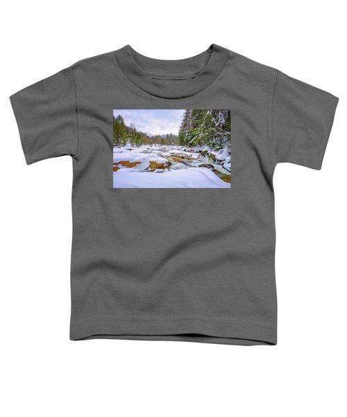 Winter On The Swift River. Toddler T-Shirt