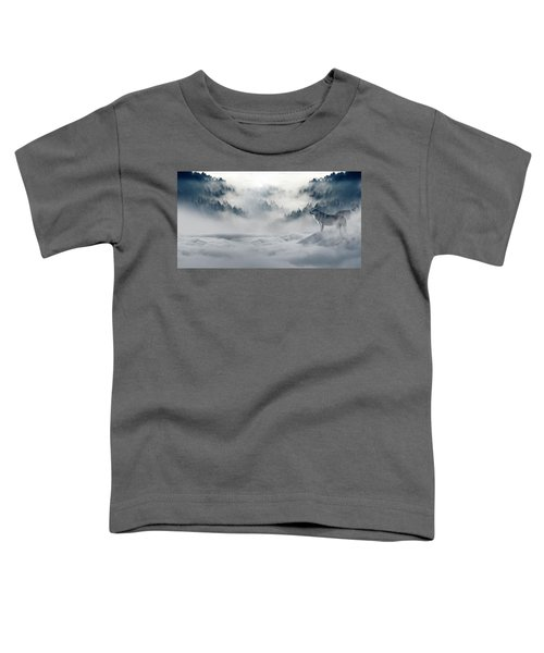 Wolfs In The Snow Toddler T-Shirt