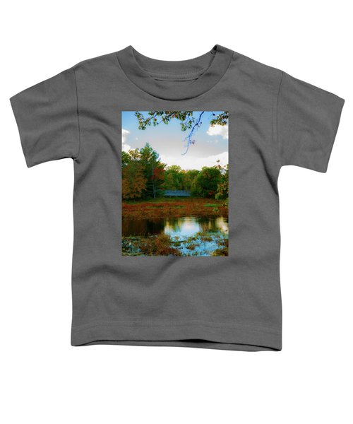 Wood Bridge In The Fall Toddler T-Shirt