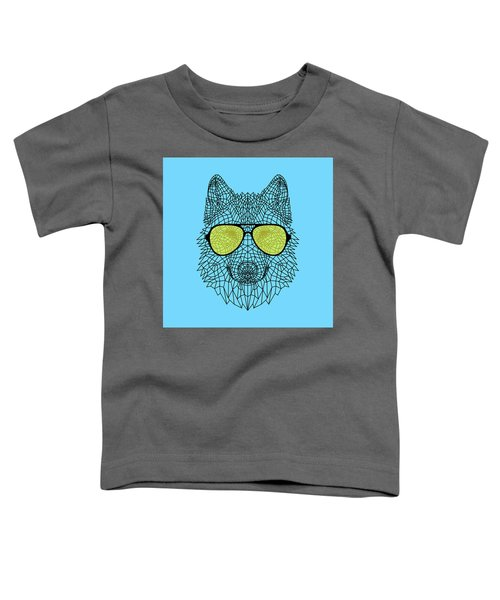 Woolf In Yellow Glasses Toddler T-Shirt