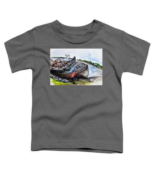 Wrecked River Boats Toddler T-Shirt