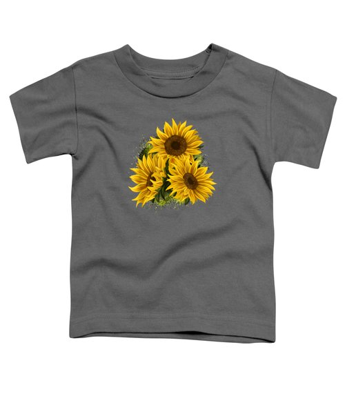 Yellow Sunflower Floral Watercolor Positivity T-shirt Toddler T-Shirt