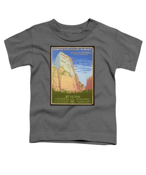 Zion National Park Ranger Naturalist Service Vintage Poster Toddler T-Shirt