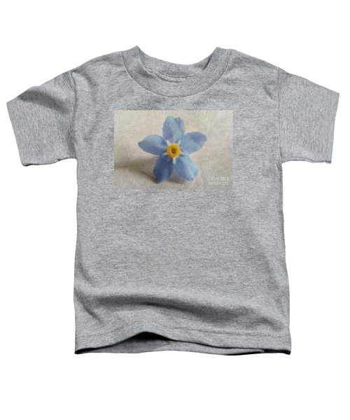 Myosotis 'forget-me-not'- Single Flower Toddler T-Shirt