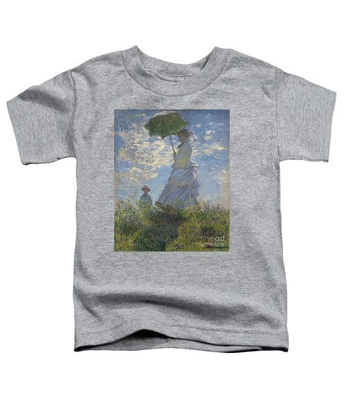 Woman With A Parasol Madame Monet And Her Son Toddler T-Shirt
