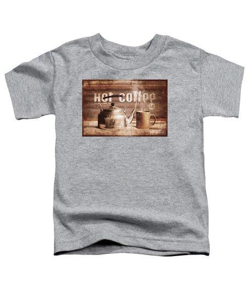 Fine Art Coffee Shop Tin Sign Insignia Toddler T-Shirt