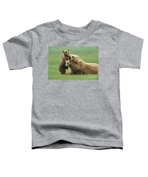 Grizzly Cubs Play With Mom Toddler T-Shirt