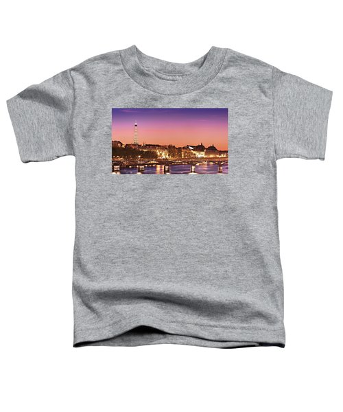 Left Bank At Night / Paris Toddler T-Shirt