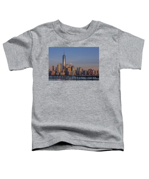 Lower Manhattan Skyline Toddler T-Shirt