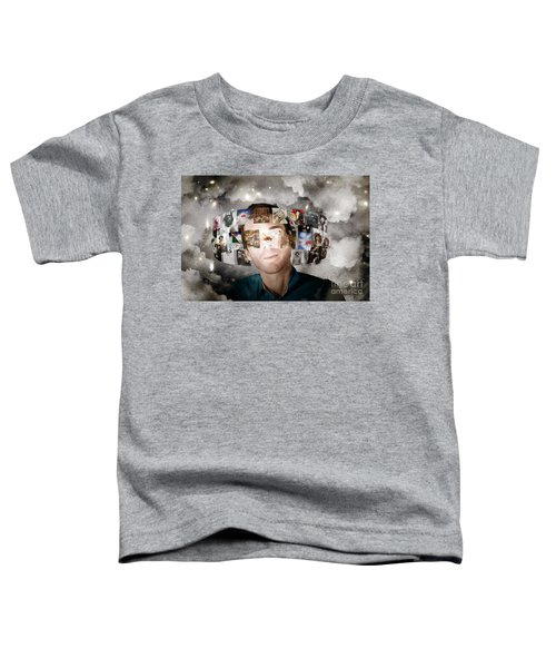 Man Streaming Media With Cloud Server Informatics Toddler T-Shirt