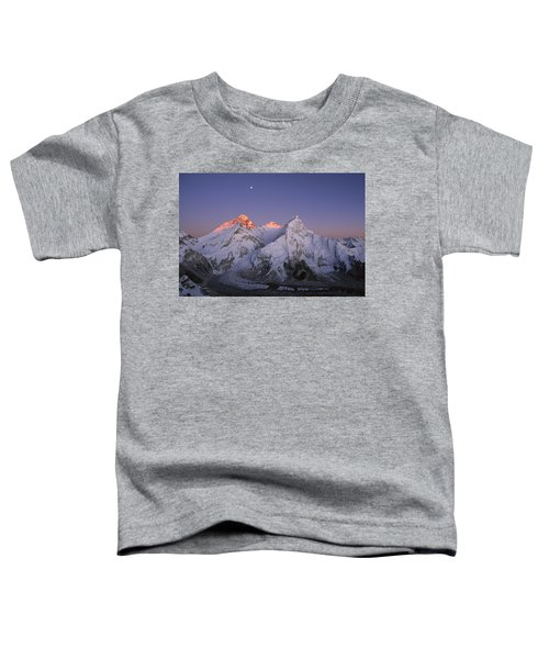 Moon Over Mount Everest Summit Toddler T-Shirt