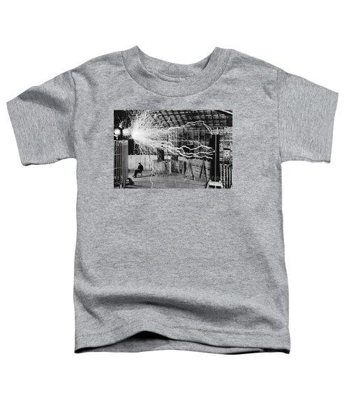 Nikola Tesla Serbian-american Inventor Toddler T-Shirt