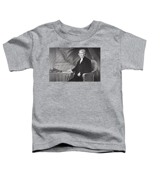 Portrait Of Thomas Jefferson Toddler T-Shirt