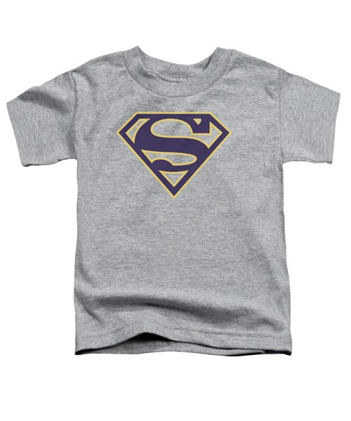 Superman - Navy And Gold Shield Toddler T-Shirt