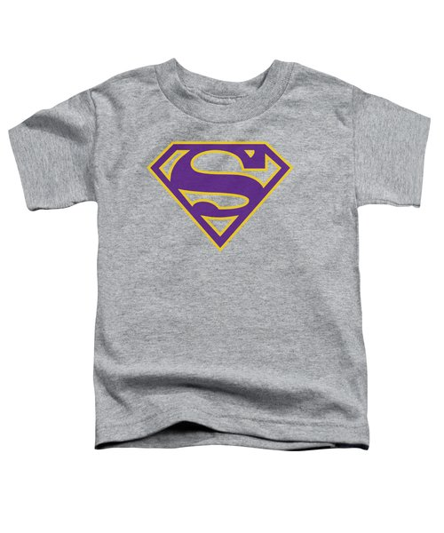 Superman - Purple And Gold Shield Toddler T-Shirt