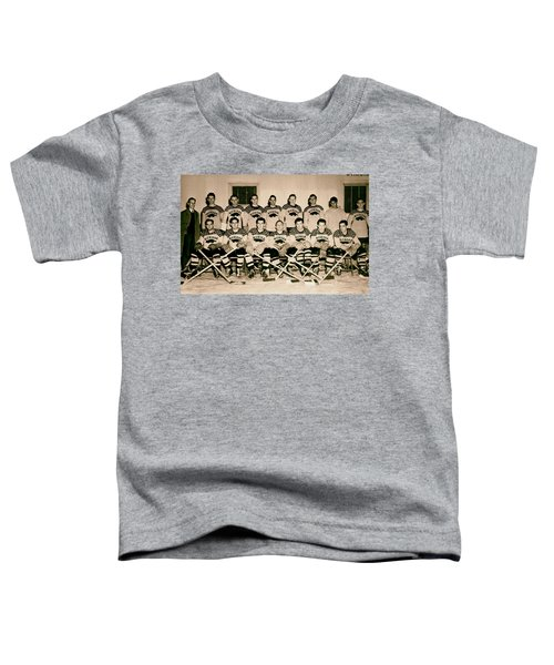 University Of Michigan Hockey Team 1947 Toddler T-Shirt by Mountain Dreams