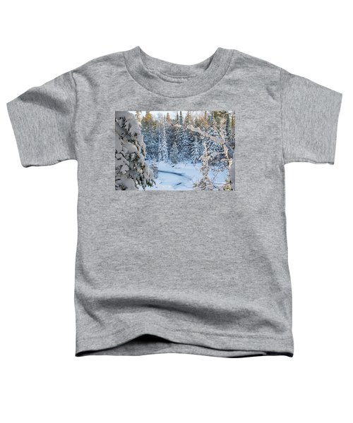 Winter At Grand Marais Creek Toddler T-Shirt