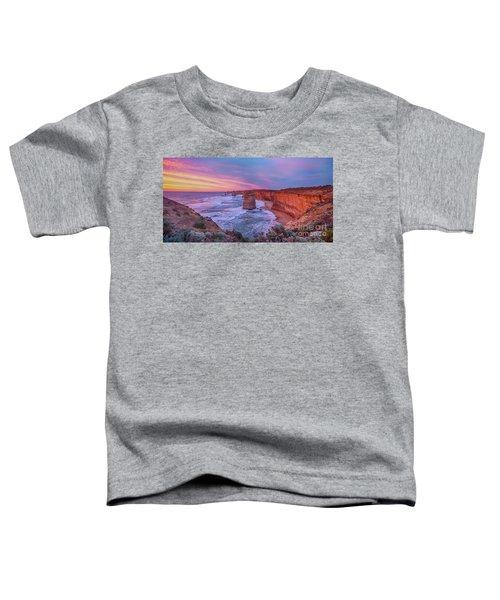 12 Apostles At Sunset Pano Toddler T-Shirt