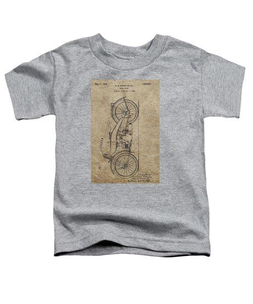 1924 Harley Davidson Patent Toddler T-Shirt