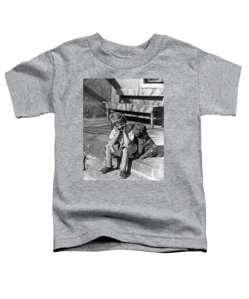 1930s Little Girl Sitting On Porch Toddler T-Shirt