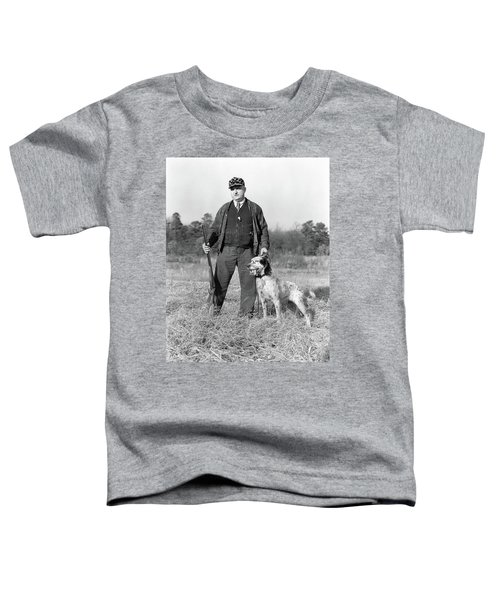 1930s Man Standing In Field Holding Toddler T-Shirt