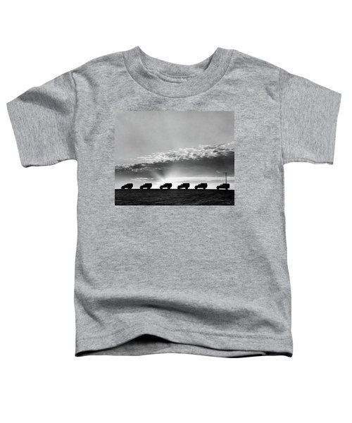 1940s Line Of Anonymous Silhouetted Toddler T-Shirt