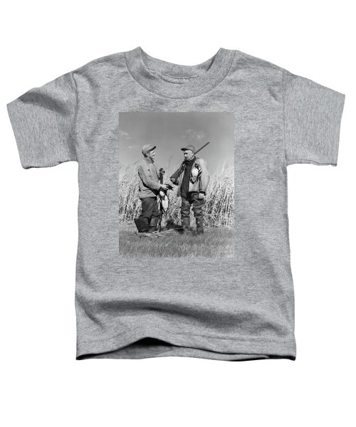 1940s Two Men Duck Hunting Standing Toddler T-Shirt