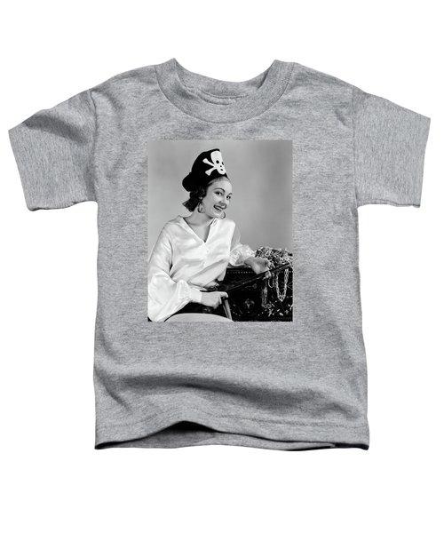 1940s Woman Wearing Pirate Costume Toddler T-Shirt