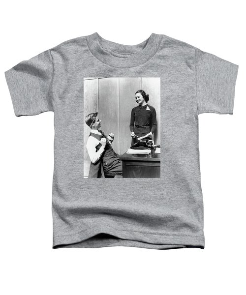 1940s Young Teenage Couple Boy At Desk Toddler T-Shirt