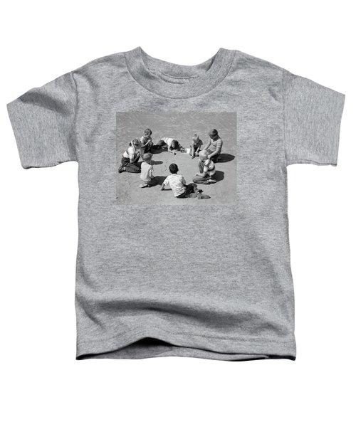 1950s Boys & Girls Shooting Marbles Toddler T-Shirt