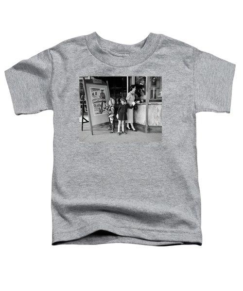 1950s Mother 2 Children Buying Tickets Toddler T-Shirt