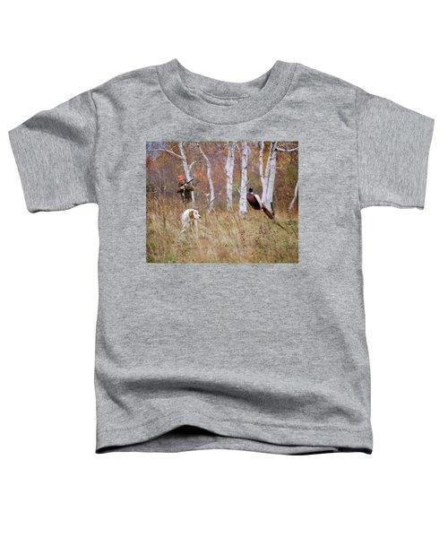 1960s 1970s Man Hunter Aiming Shotgun Toddler T-Shirt