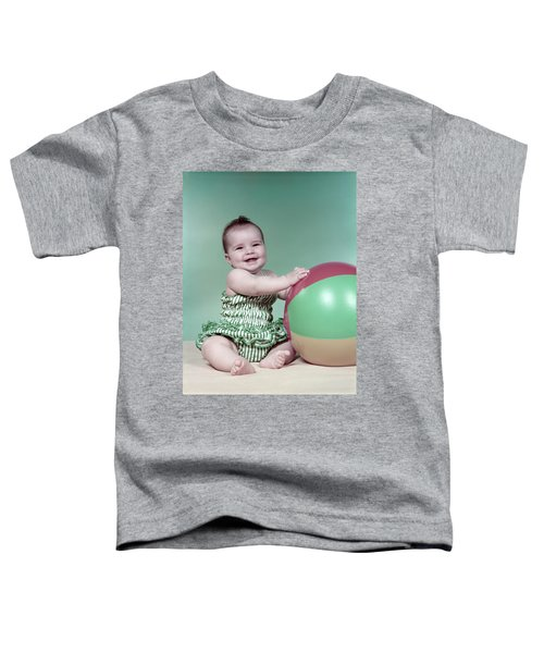 1960s Baby Beach Ball Bathing Suit Toddler T-Shirt