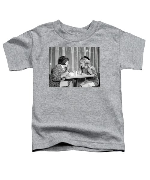 1960s Two Women Gossiping At Lunch Toddler T-Shirt