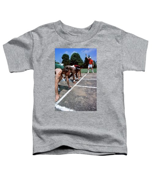 1970s Diverse Group Of Runners Toddler T-Shirt