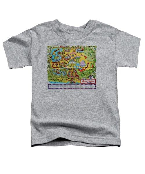 1971 Original Map Of The Magic Kingdom Toddler T-Shirt