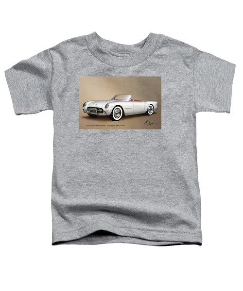 1953 Corvette Classic Vintage Sports Car Automotive Art Toddler T-Shirt