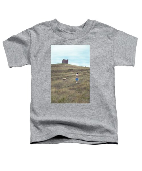Girl With Sheeps Toddler T-Shirt
