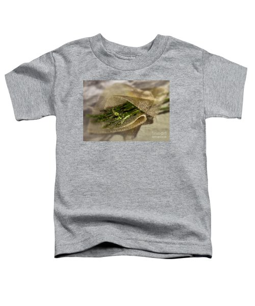 Green Asparagus On Burlab Toddler T-Shirt by Iris Richardson