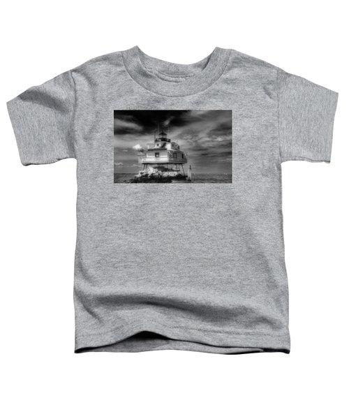 Thomas Point Shoal Lighthouse Black And White Toddler T-Shirt