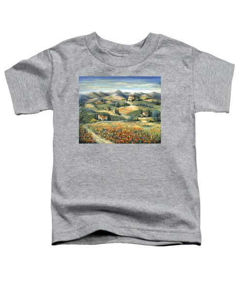 Tuscan Villa And Poppies Toddler T-Shirt