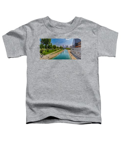 Indianapolis Skyline From The Canal Toddler T-Shirt