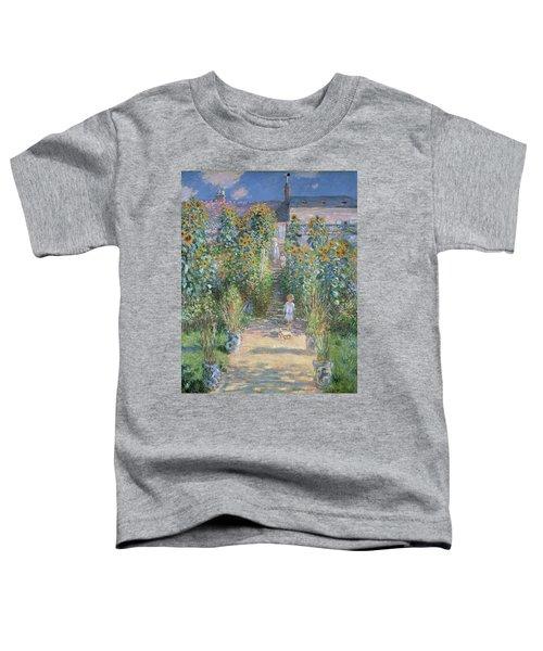 The Artist's Garden At Vetheuil Toddler T-Shirt