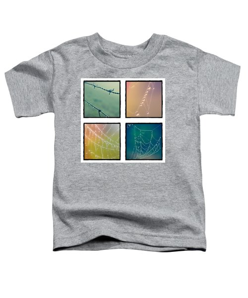 4 Color Web Droplets Toddler T-Shirt